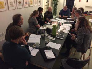 Møde med Assens Kommune, hvor der bliver kigget på hvor fremtidige søer og grønne stier kan placeres